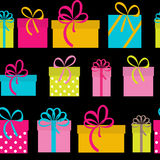 Gift Box Holiday Seamless Pattern Background Stock Photography