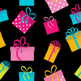 Gift Box Holiday Seamless Pattern Background Stock Images