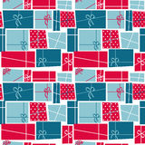 Gift Box Holiday Seamless Pattern Background Royalty Free Stock Photo