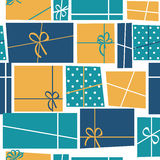 Gift Box Holiday Seamless Pattern Background Vector Illustration Stock Photos