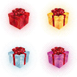 Gift Box i. N four color sets Royalty Free Stock Photo