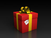 Gift box with I love you card Royalty Free Stock Photo