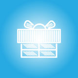 Gift box icon for celebration time. Vector, illustration Royalty Free Stock Photography