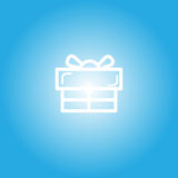 Gift box icon for celebration time. Vector, illustration Royalty Free Stock Photo