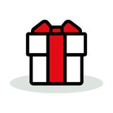 Gift box icon Royalty Free Stock Photos