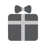 Gift box icon. Gift box flat icon vector illustration EPS10 Royalty Free Stock Images