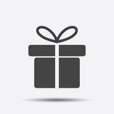 Gift box icon. Stock Photos