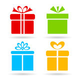 Gift box icon. S set on white background Stock Photography