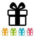 Gift box icon Royalty Free Stock Photos
