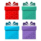 Gift box icon set Royalty Free Stock Photo