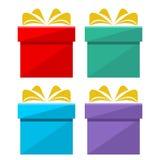 Gift box icon set. Icon Stock Photo