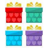 Gift box icon set. Icon Stock Image