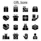 Gift box icon set stock illustration