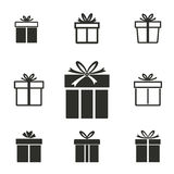 Gift Box icon set. Gift Box vector icons set. Illustration isolated for graphic and web design Stock Photography
