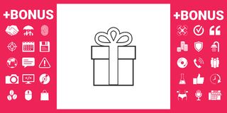 Gift box icon. Signs and symbols - graphic elements for your design Stock Photography