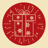 Gift box icon in thin line style Royalty Free Stock Image