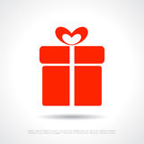 Gift box icon Royalty Free Stock Images
