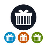 Gift Box icon, vector illustration Royalty Free Stock Image