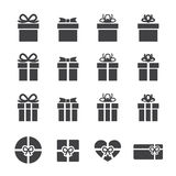 Gift box icon Stock Photography