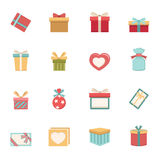 Gift box icons  Royalty Free Stock Photos