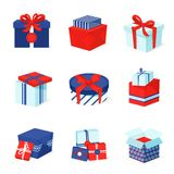 Gift box icons set Royalty Free Stock Photo