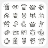 Gift box icons set Royalty Free Stock Photos