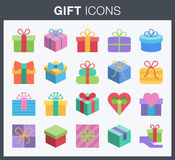 Gift box icons. Royalty Free Stock Photo