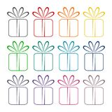 Gift box icons set. Icon Stock Photography