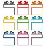 Gift box icons set. Vector icon Royalty Free Stock Photos