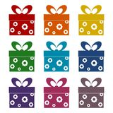 Gift Box icons set. Vector icon Royalty Free Stock Image