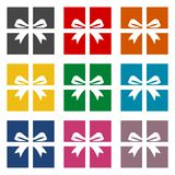 Gift Box Icons set Royalty Free Stock Photography