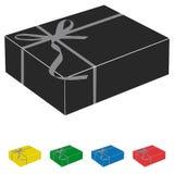 Gift Box Icons Set - Vector Illustration. Isolated On White Background Stock Photos