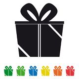 Gift Box Icons Set - Vector graphic. Gift Box Icons Set - Vector Illustration - Isolated On White Background Royalty Free Stock Image