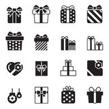 Gift box icons Set on white background Stock Photography