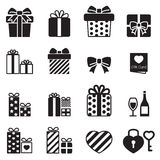 Gift box icons set on white background Stock Image