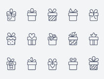 Gift box icons Stock Images