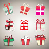Gift box icons Vector illustration. Stock Images