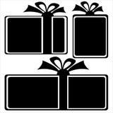 Gift box icons on white Stock Photos