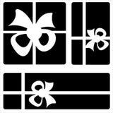 Gift box icons on white background Royalty Free Stock Photos