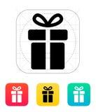 Gift box icons on white background. Royalty Free Stock Photo