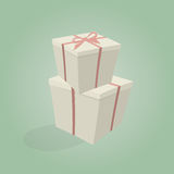 Gift box illustration. Illustration of a gift box Royalty Free Stock Photos