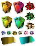 Gift box illustration Stock Photos