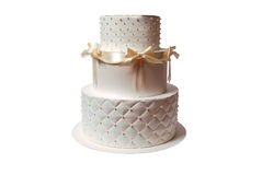Gift Box In A Form Of Cake Royalty Free Stock Photos