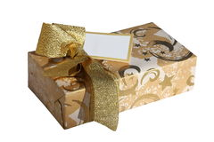 Gift box- isolated Royalty Free Stock Photo