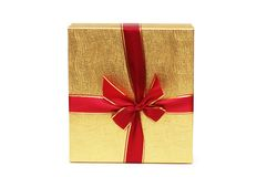 Gift box isolated Stock Image