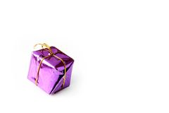 Gift box isolated. On the white background royalty free stock photo