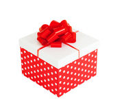 Gift box isolated with clipping path royalty free stock image