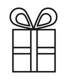 gift box  isolated icon design Stock Images