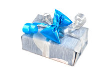 Gift box isolated over white. Stock Photos