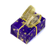 Gift box isolated over white. Royalty Free Stock Image